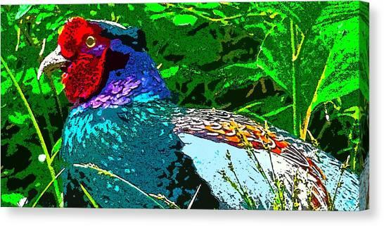 Pheasant Digiartwork Canvas Print