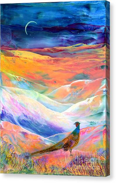 Pheasants Canvas Print - Pheasant Moon by Jane Small
