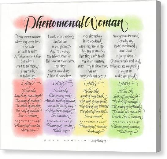 Phenomenal Woman Canvas Print