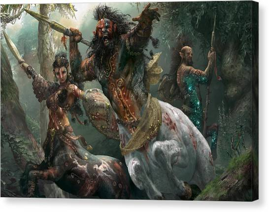 Centaurs Canvas Print - Pheres-band Raiders by Ryan Barger