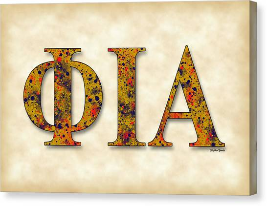 Alpha Phi Canvas Print - Phi Iota Alpha - Parchment by Stephen Younts