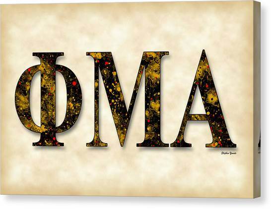 Alpha Phi Alpha Canvas Print - Phi Mu Alpha Sinfonia - Parchment by Stephen Younts