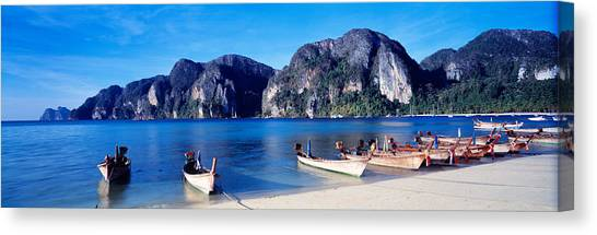 Phi Phi Island Canvas Print - Phi Phi Islands Thailand by Panoramic Images