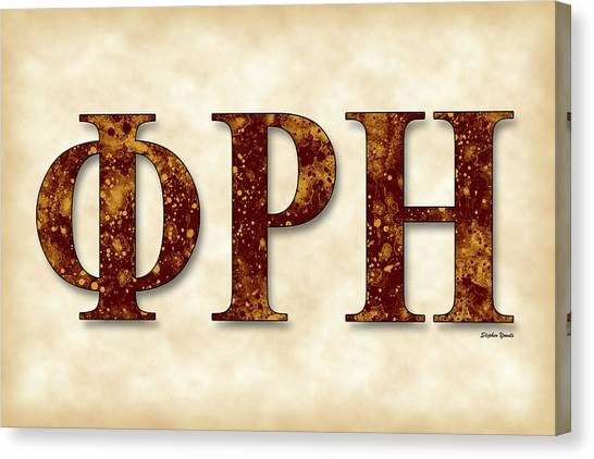 Southern Illinois University Canvas Print - Phi Rho Eta - Parchment by Stephen Younts