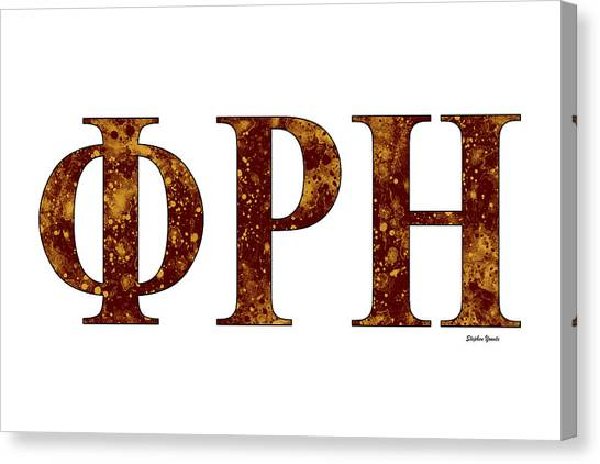 Southern Illinois University Canvas Print - Phi Rho Eta - White by Stephen Younts