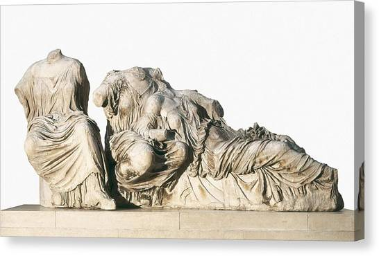 The Acropolis Canvas Print - Phidias 490 -431 Bc. Figures Of 3 by Everett