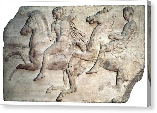 The Acropolis Canvas Print - Phidias 490 -431 Bc. Horsemen by Everett