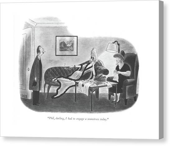 Baby Taylors Canvas Print - Phil, Darling, I Had To Engage A Seamstress Today by Richard Taylor