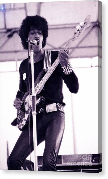 Phil Lynott Of Thin Lizzy Black Rose Star Effect Day On The Green 4th Of July 1979 - Unreleased No 3 Canvas Print
