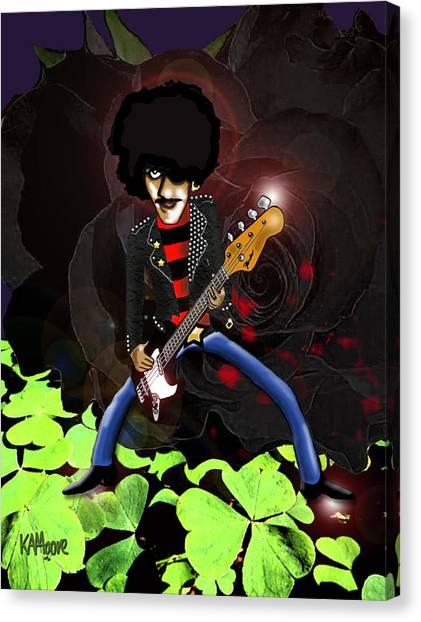 Phil Lynott Of Thin Lizzy Canvas Print