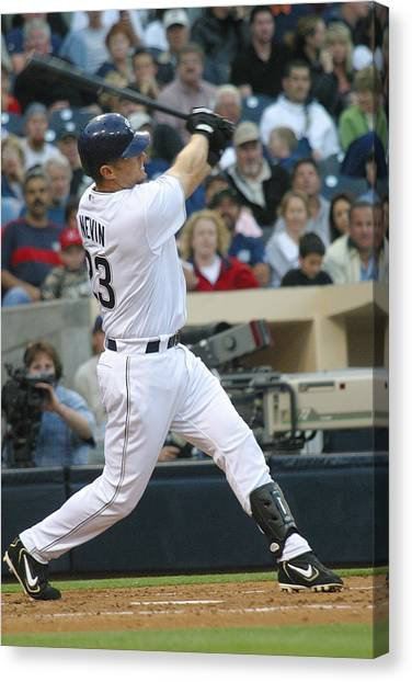 San Diego Padres Canvas Print - Phil Nevin by Don Olea