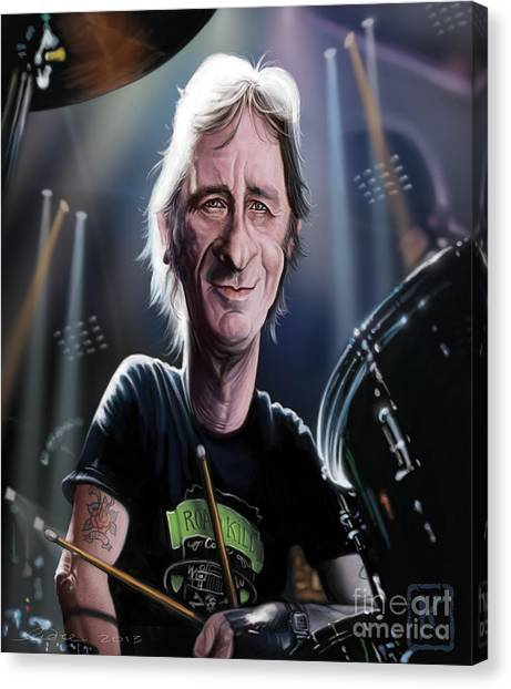 Ac Dc Canvas Print - Phil Rudd by Andre Koekemoer