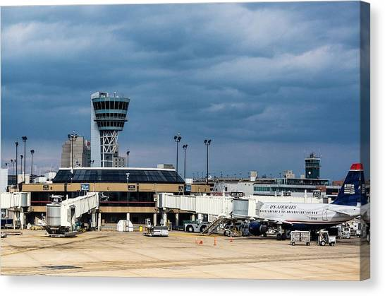 Air Traffic Control Canvas Print - Philadelphia Airport by John Greim/science Photo Library