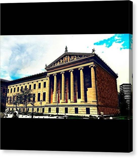Roman Art Canvas Print - Philadelphia Art Museum by Christopher Mad Plaid Anderson