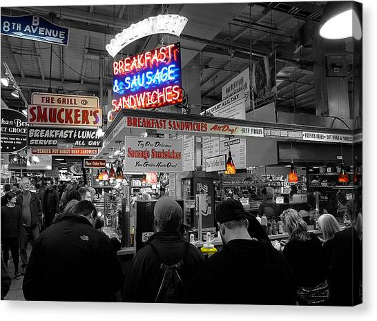 Philadelphia - Breakfast At Smucker's Canvas Print