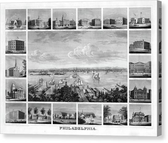 Temple University Canvas Print - Philadelphia, C1862 by Granger