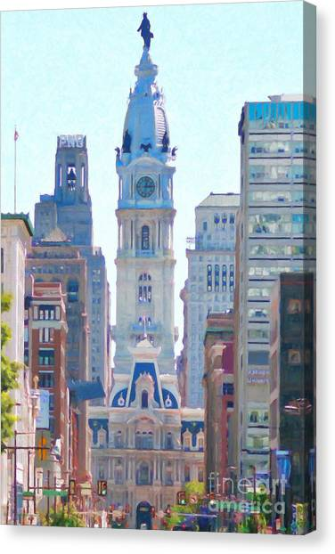 Philadelphia City Hall 20130703 Canvas Print by Wingsdomain Art and Photography