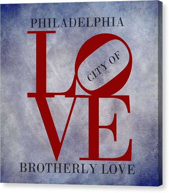 Delaware Valley Canvas Print - Philadelphia City Of Brotherly Love  by Movie Poster Prints