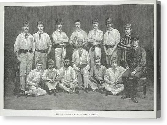 Crickets Canvas Print - Philadelphia Cricket Team by British Library