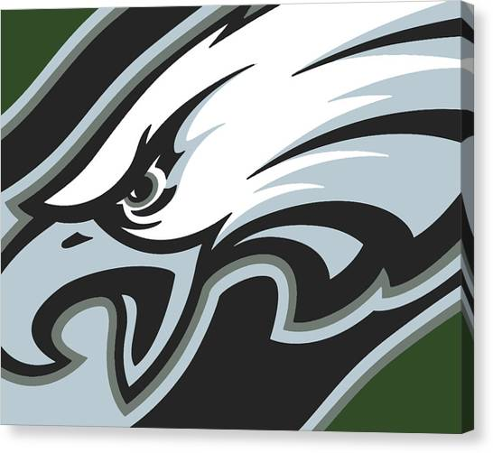 Philadelphia Phillies Canvas Print - Philadelphia Eagles Football by Tony Rubino