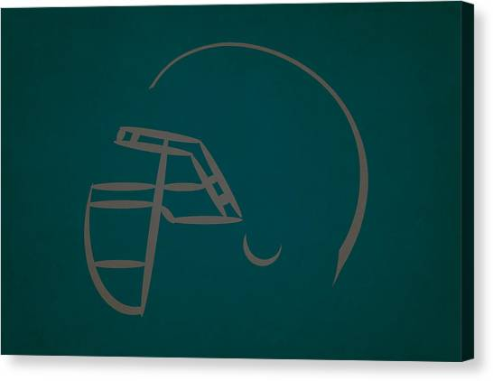 Philadelphia Eagles Canvas Print - Philadelphia Eagles Helmet by Joe Hamilton
