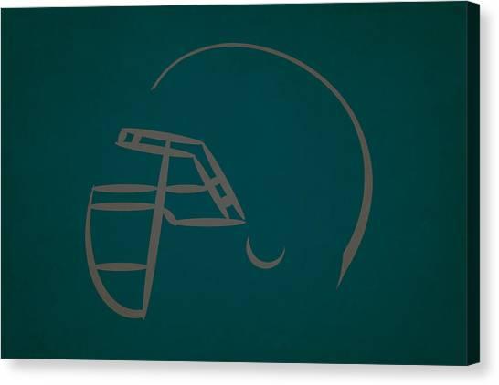 Philadelphia Eagles Canvas Print - Philadelphia Eagles Helmet by Joe Hamilton