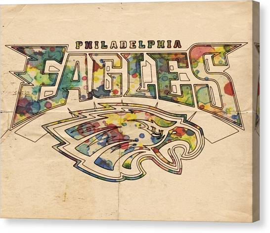 Philadelphia Eagles Poster Art Canvas Print