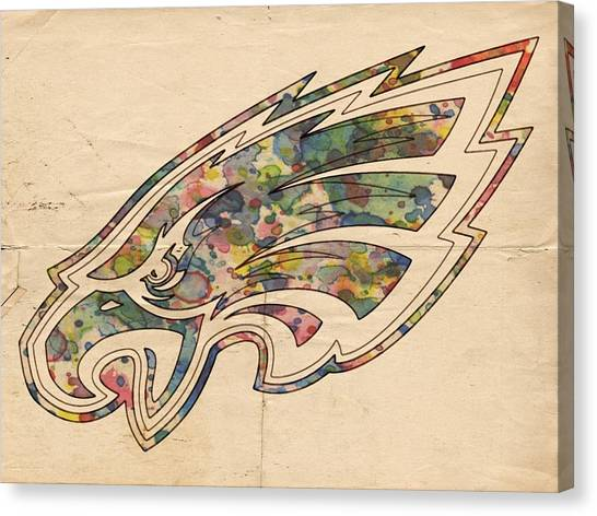 Philadelphia Eagles Canvas Print - Philadelphia Eagles Poster Vintage by Florian Rodarte