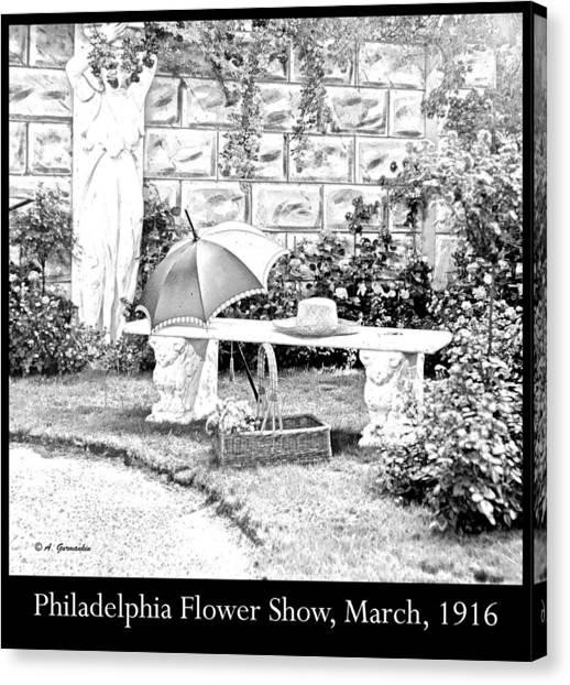 Philadelphia Flower Show Display 1916 Canvas Print