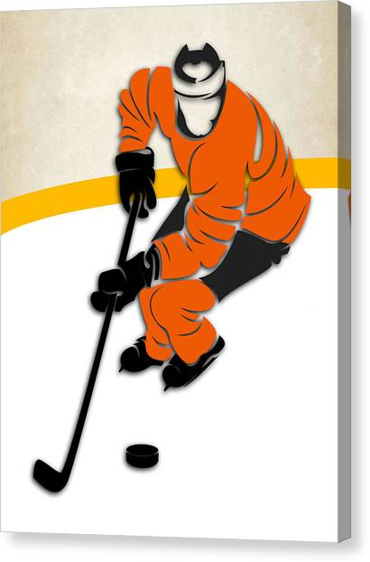 Philadelphia Flyers Canvas Print - Philadelphia Flyers Rink by Joe Hamilton