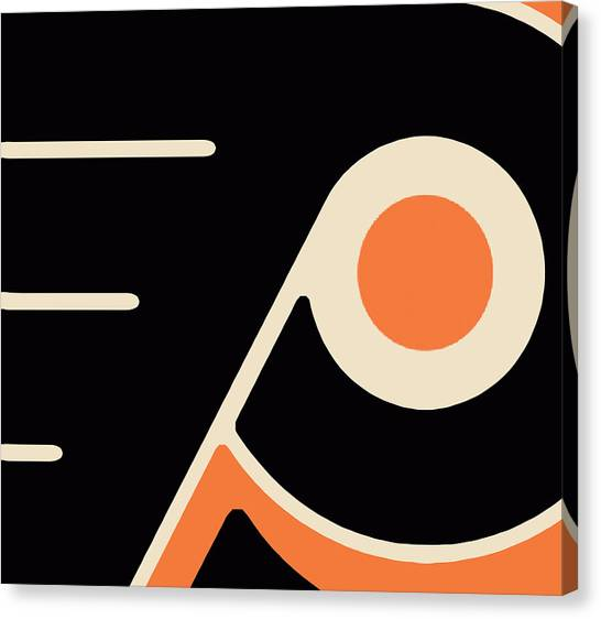 Flyer Canvas Print - Philadelphia Flyers by Tony Rubino