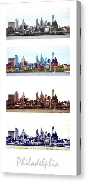 Philadelphia Skyline Canvas Print - Philadelphia Four Seasons by Olivier Le Queinec