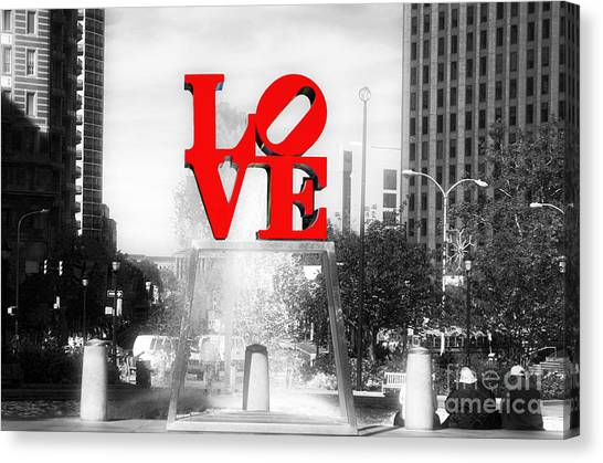 Philadelphia Love Fusion Canvas Print