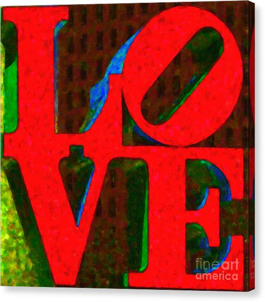 Philadelphia Love - Painterly V1 Canvas Print by Wingsdomain Art and Photography