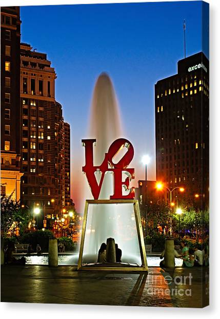 Philadelphia Love Park Canvas Print