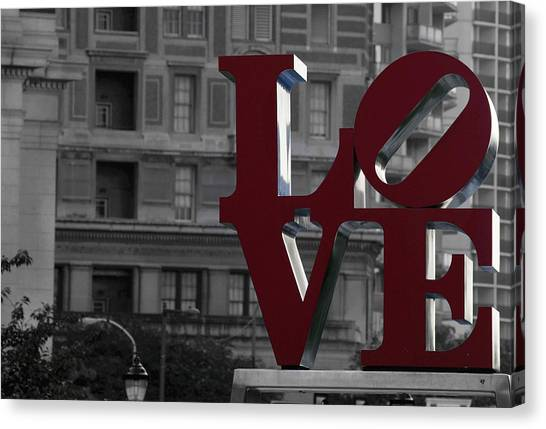 Philadelphia Love Canvas Print