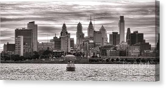 Philadelphia Phillies Canvas Print - Philadelphia Silver by Olivier Le Queinec