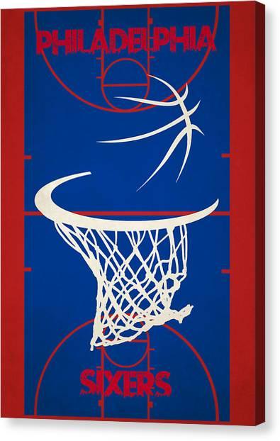 Philadelphia Sixers Canvas Print - Philadelphia Sixers Court by Joe Hamilton