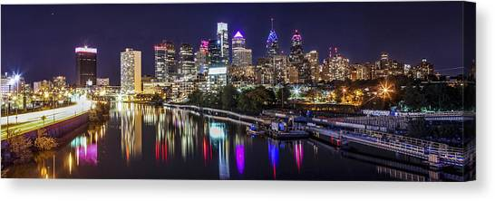 Philadelphia Skyline At Night Canvas Print