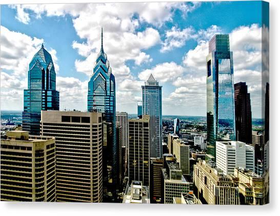 Philadelphia Skyline Canvas Print by Frank Savarese