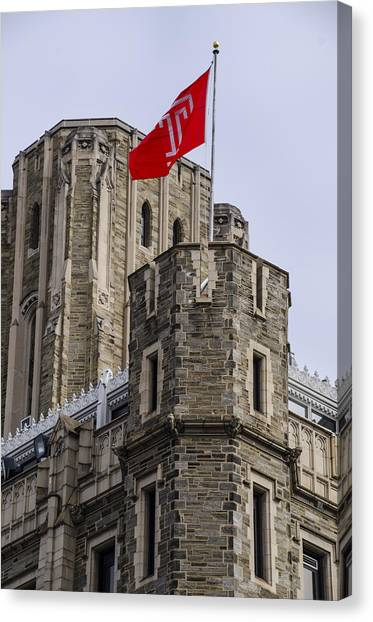 Aac Canvas Print - Philadelphia - Temple University by Bill Cannon