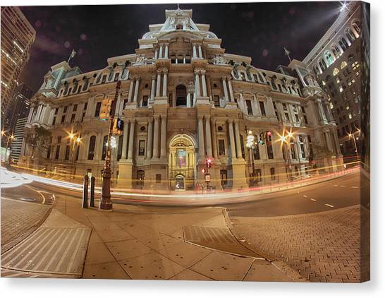Philadelphia's Golden Glow  Canvas Print