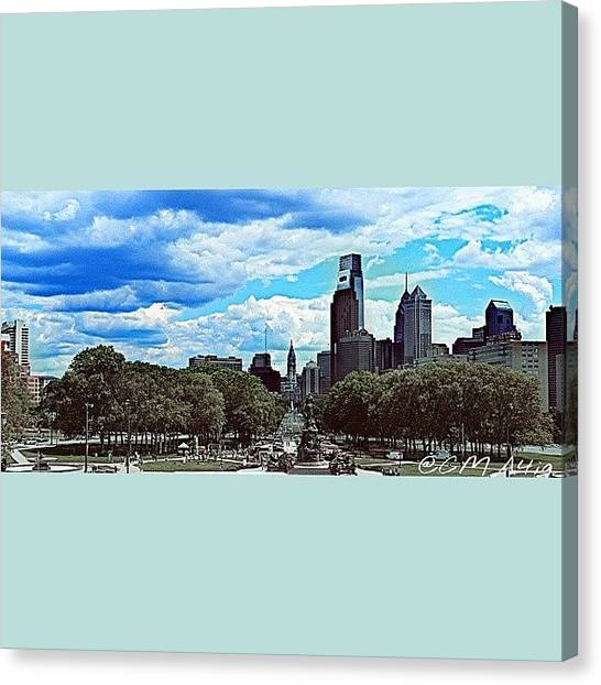 Ivory Canvas Print - Philly by Christopher Mad Plaid Anderson