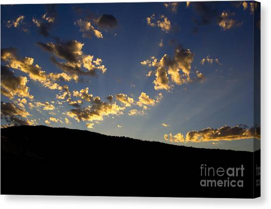 Philmont Sunset Canvas Print by Sheldon Perry
