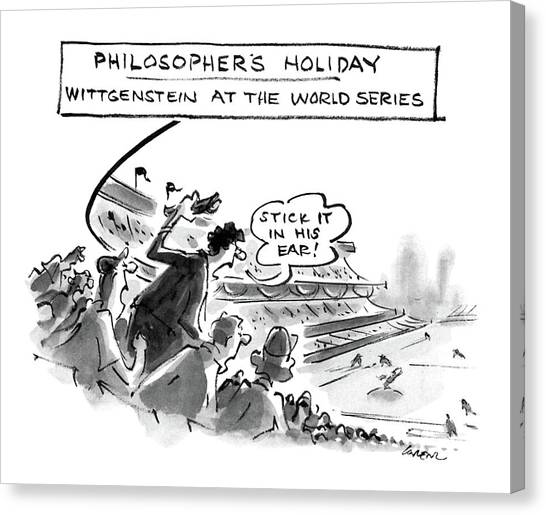 Philosopher Canvas Print - Philosopher's Holiday Wittgenstein At The World by Lee Lorenz