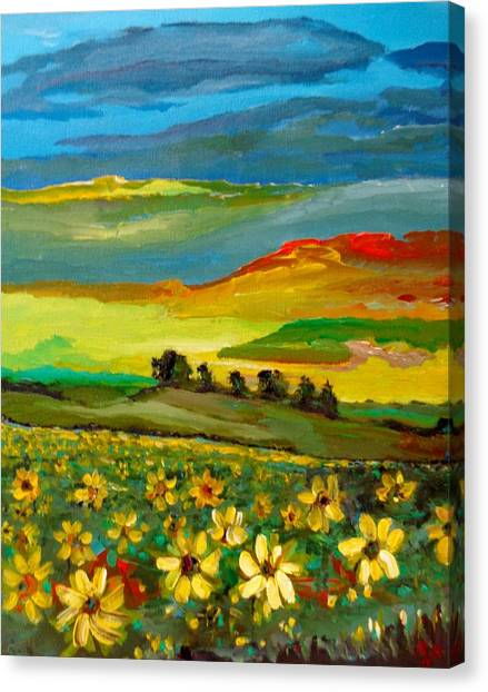 Canvas Print featuring the painting Philosophy Of Colors by Ray Khalife