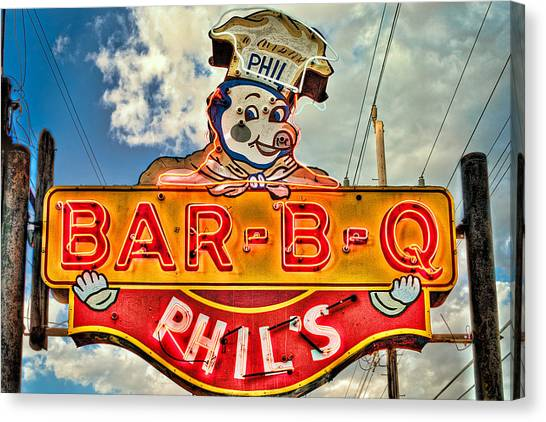 Phils Barbeque Canvas Print