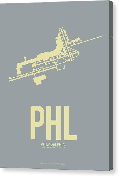 Philadelphia Canvas Print - Phl Philadelphia Airport Poster 1 by Naxart Studio