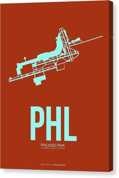 Airports Canvas Print - Phl Philadelphia Airport Poster 2 by Naxart Studio