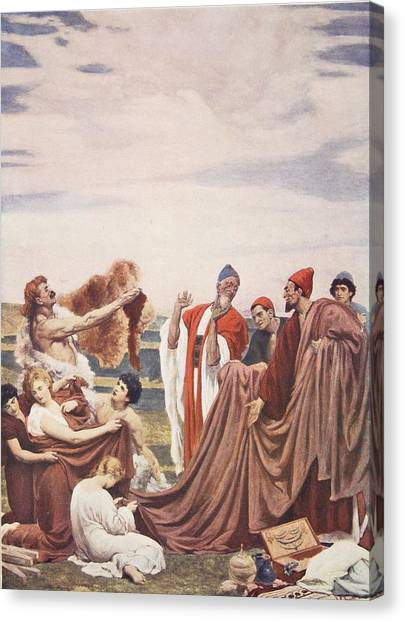 Briton Canvas Print - Phoenicians Trading With Early Britons by Frederic Leighton